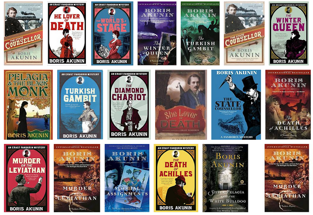 Many of Akunin's novels have been translated into English