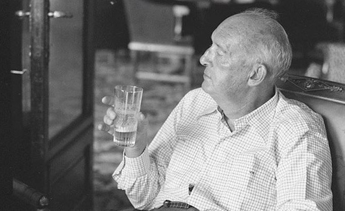 Vladimir Nabokov in Montreux, Switzerland, in 1973. Photo: vesnavfialte / Vkontakte