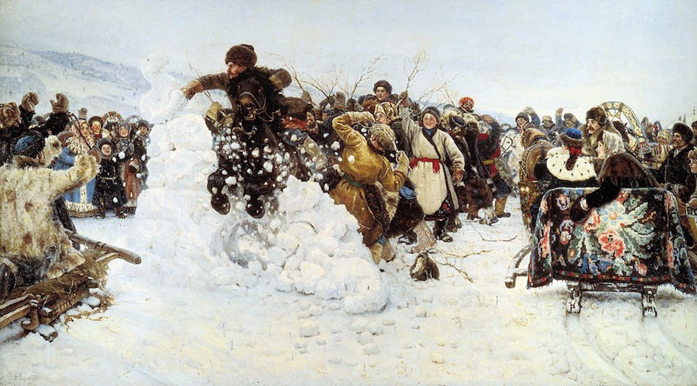 Vasily Surikov, <i>The Taking of the Snow Fortress</i> (1891)