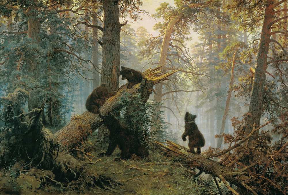 Ivan Shishkin and Konstantin Savitsky, <i>Morning in a Pine Forest</i> (1889)