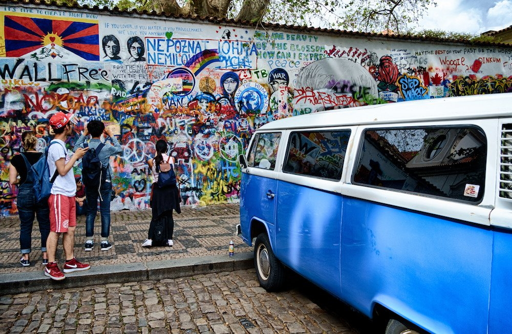 Lennon's Wall. Image: el_ave under a CC License