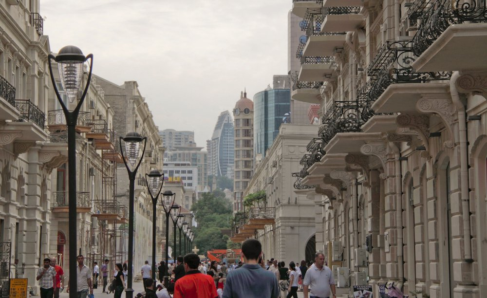 Nizami Street in central Baku. Image: Jens Aarstein Holm under a CC licence