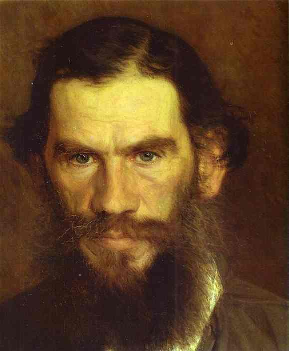 Leo Tolstoy, Russia's most famous vegetarian, as painted by Ivan Kramskoy (1873)