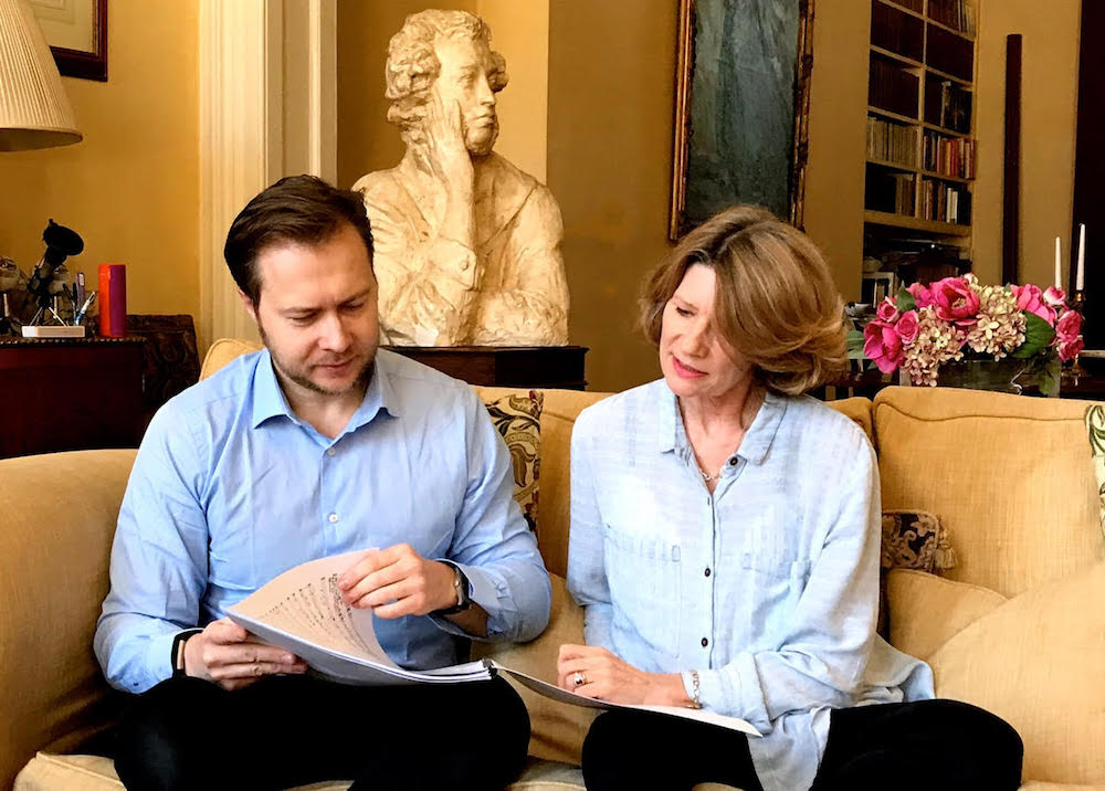 Composer Konstantin Boyarsky and librettist Marita Phillips. Image courtesy of Marita Phillips