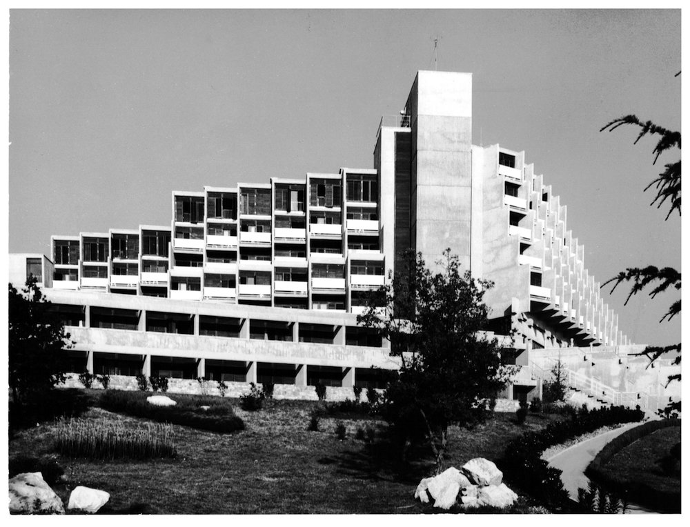 Hotel Rubin in Poreč, architect Juilje De Luca, 1970. Image: The Croatian Museum of Architecture, Zagreb