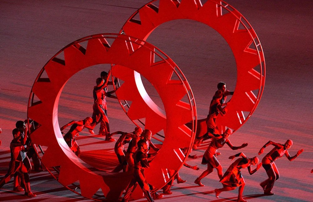 Russian Avant-garde art depicted at the opening of the 2014 Sochi Winter Olympics