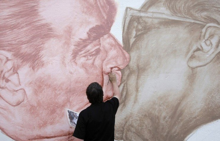 Brotherly love: 25 years on, the artist behind the iconic Berlin Wall mural tells his story