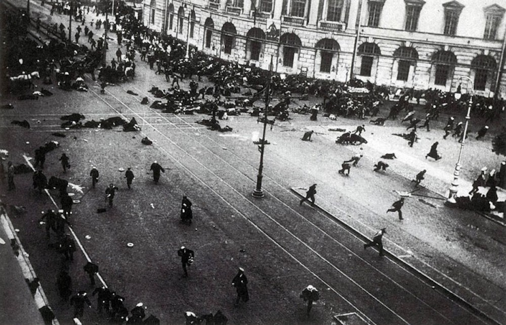 Riots in Petrograd during 1917