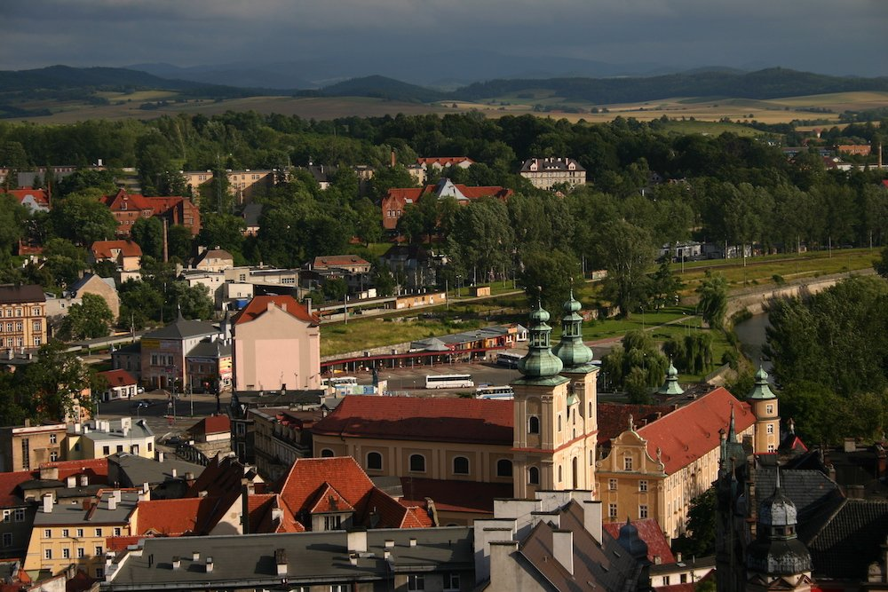 The town of Kłodzko in Silesia, near where Tokarczuk lives. Image: Stefan under a CC License