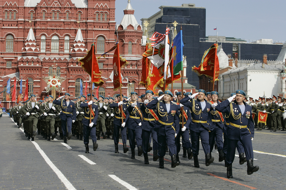 A parade in Moscow's Red Square on Defender of the Fatherland Day, 23 February