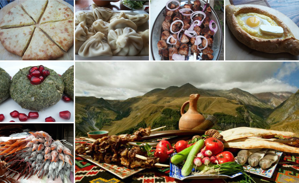 An array of Georgian delicacies. Image: Giorgi Balakhadze under a CC licence