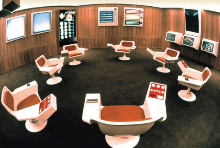 Cybersyn control room, Chile. Image: Gui Bonsieppe under a CC license