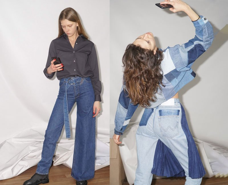 Ksenia Schnaider just dropped asymmetrical jeans. Here are the other viral hits from the Kiev label
