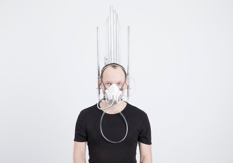 Last breath? A Moscow artist contemplates death with a wearable mask organ