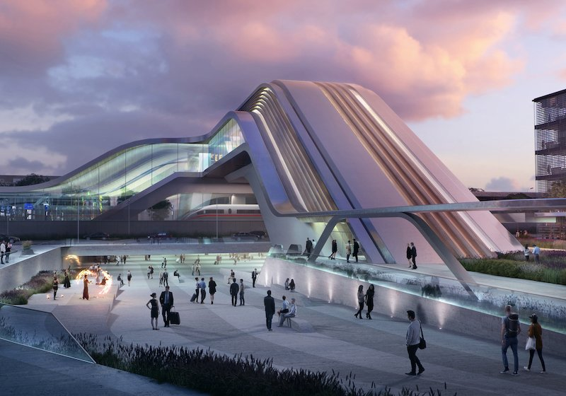 Get a glimpse of Tallinn's futuristic new railway station, courtesy of Zaha Hadid