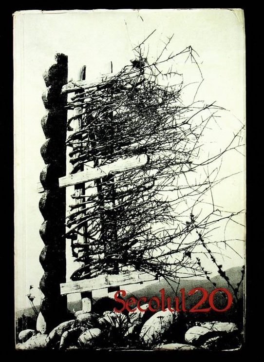 "The cover of the magazine Secolul 20, titled ""The village of Brancusi"", 1967"
