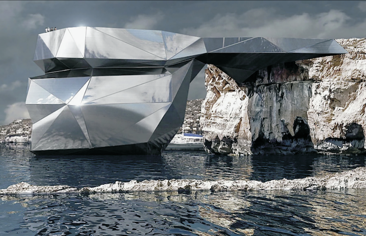 This Russian architect wants to rebuild Malta's most iconic natural landmark with mirrored steel