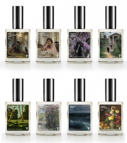 The new Tretyakov Gallery scent collection. Image: State Tretyakov Gallery / Facebook