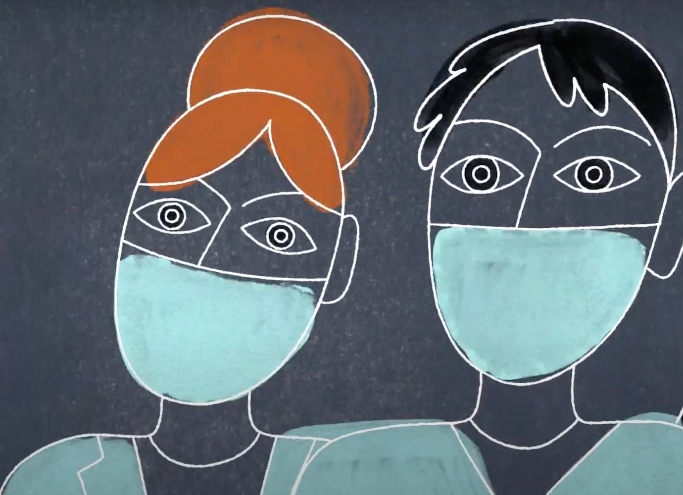 A moving animation pays homage to Britain's migrant medical staff