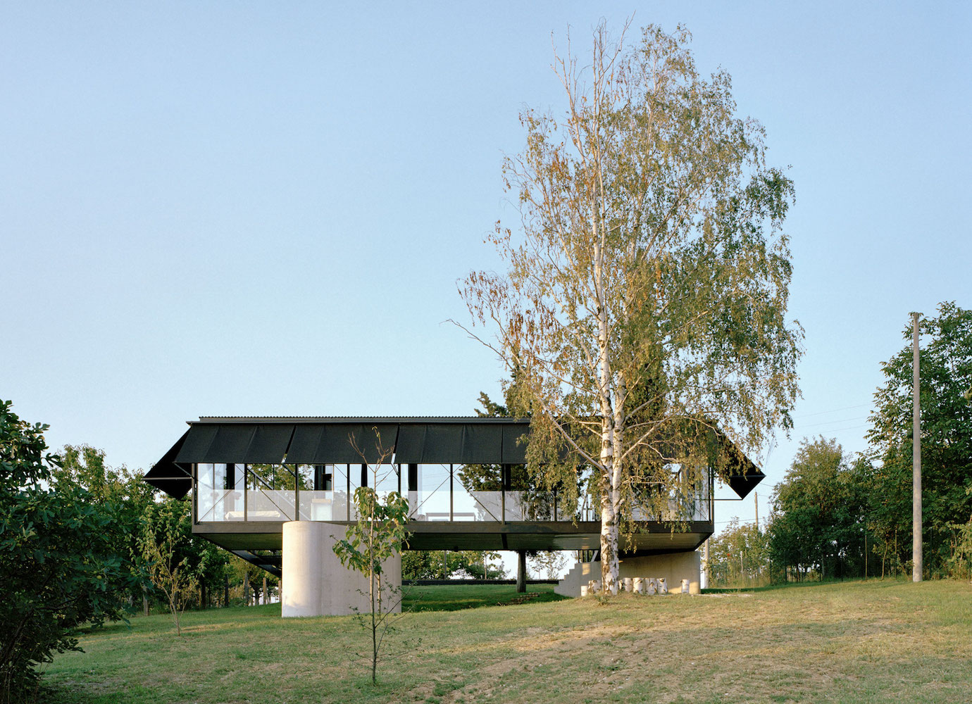The levitating home: a Serbian mountain house stands metres above the ground