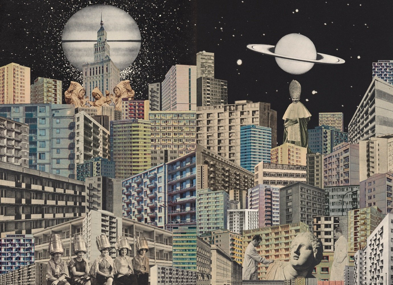 Radical ideas vs concrete realities: enter the surreal urban world of these dystopian collages