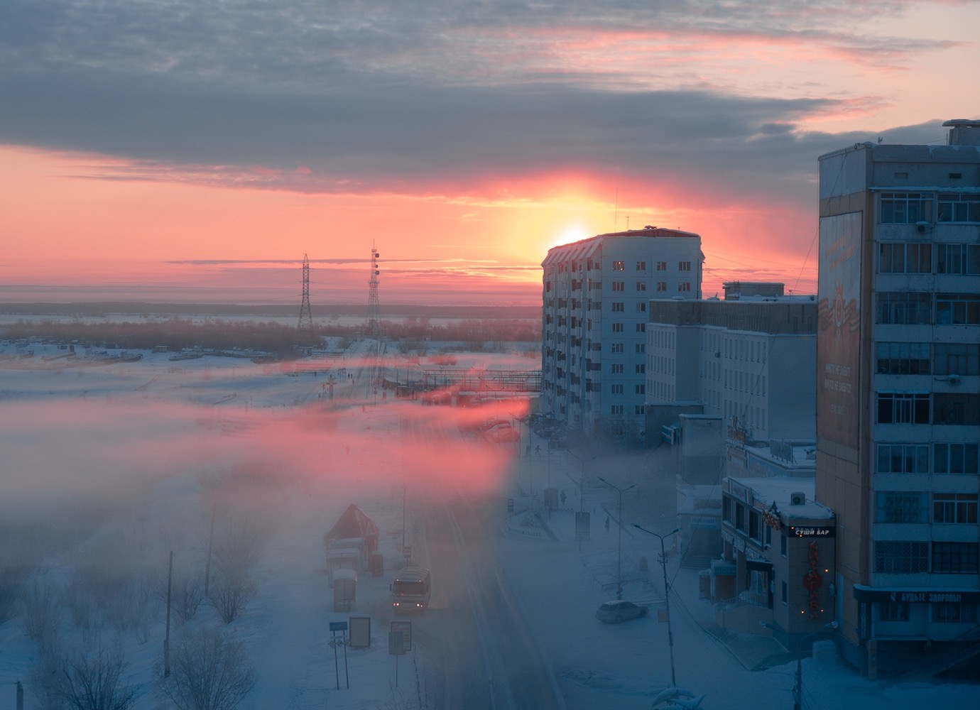 Sunset-tinted photos of Russia that find romantic beauty in the ordinary