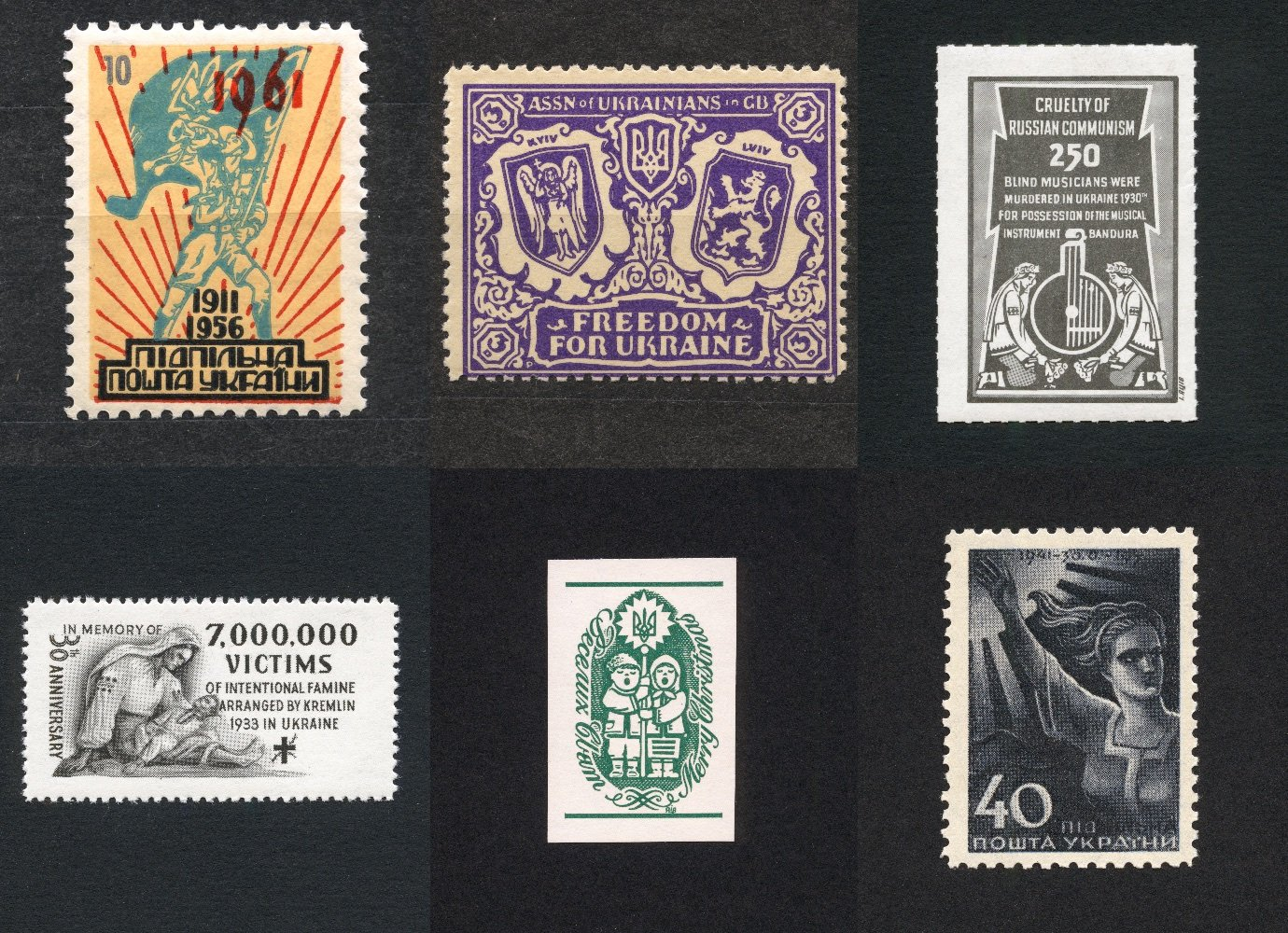 How the Ukrainian diaspora denounced Soviet repression through underground postage stamps