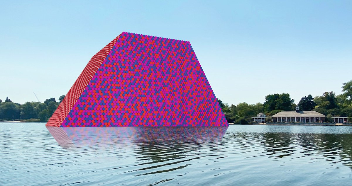 Build your own Christo sculpture at home with an augmented reality app