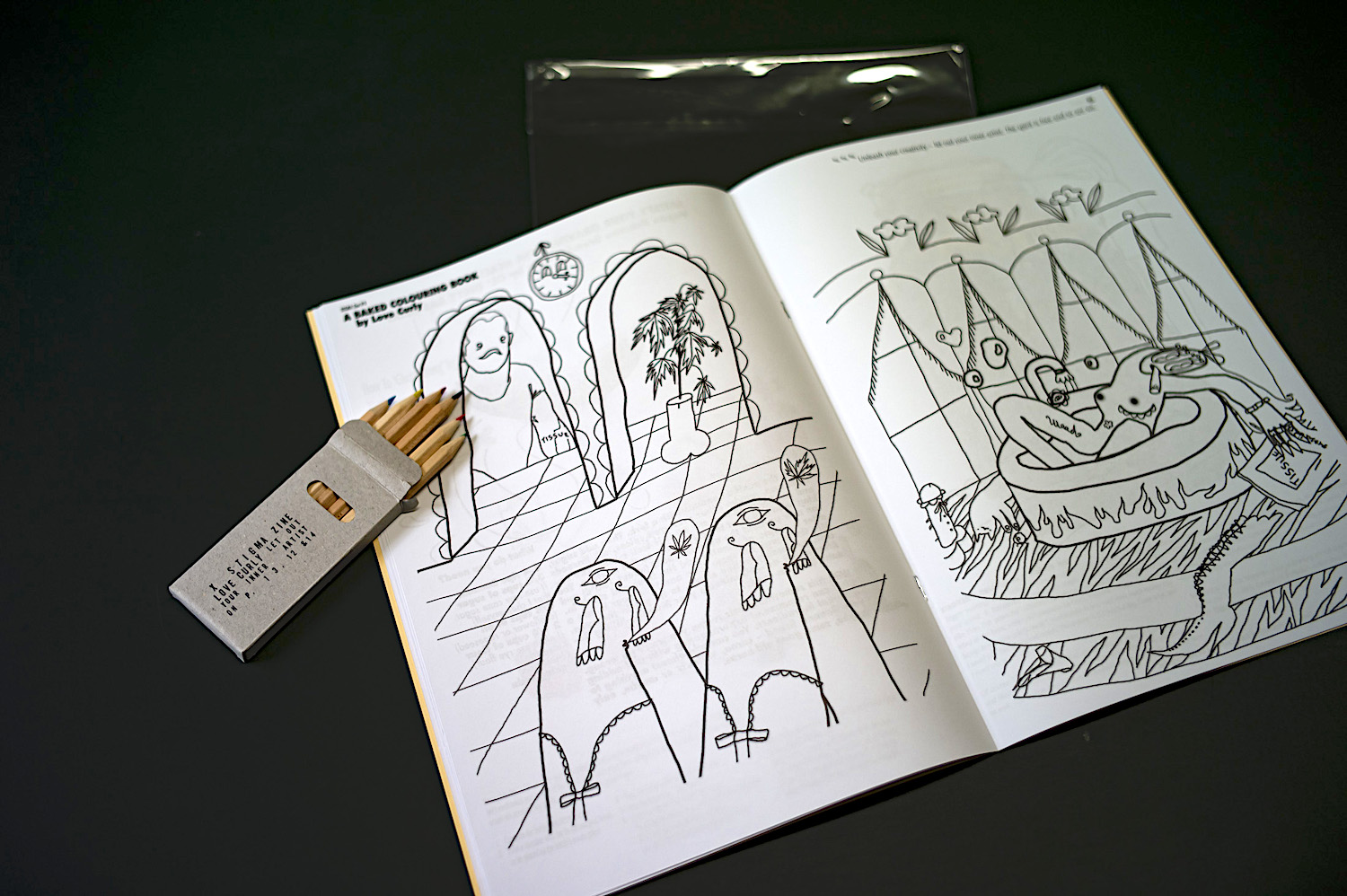 Baked: a colouring book for when you're high