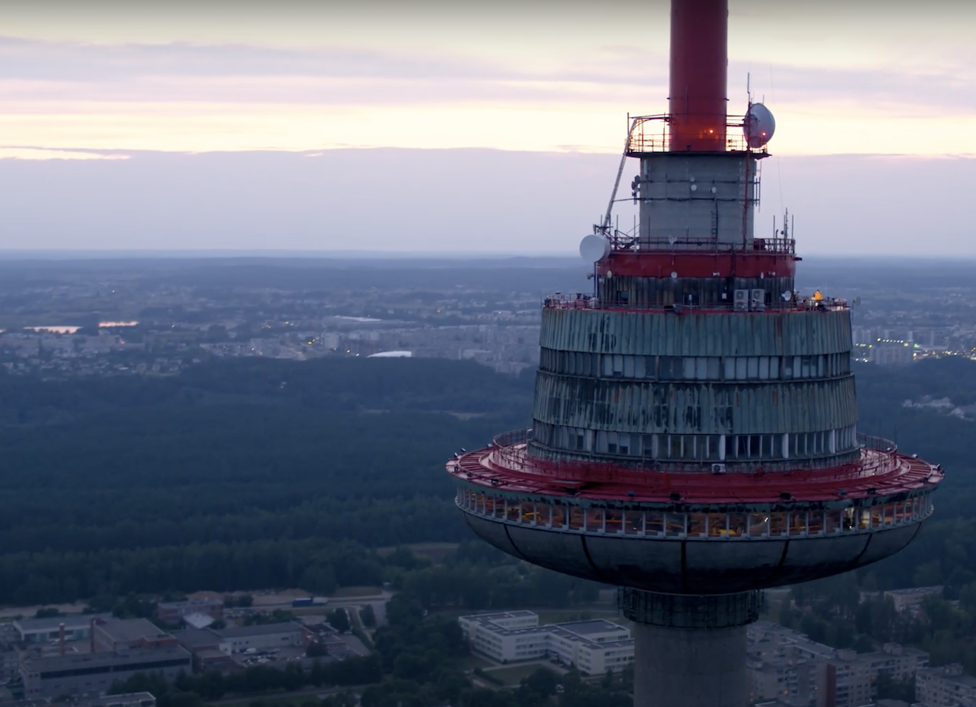 See Vilnius from the top of its tallest tower in this electronic music video