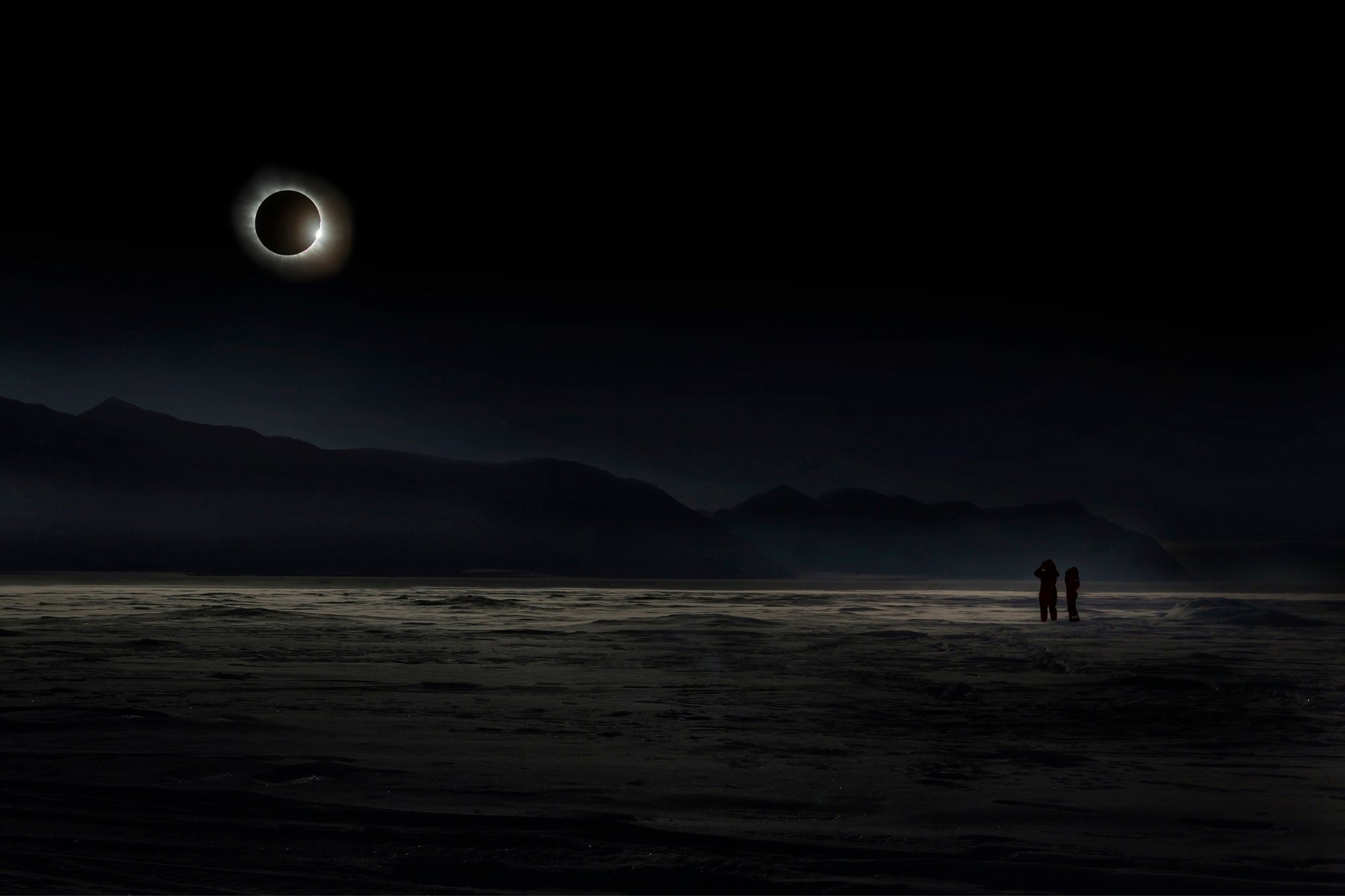 """""""The total solar eclipse in Svalbard on March 20, 2015 was one of the most importa nt and impressive astronomical events."""" Image: Vladimir Alekseev/www.tpoty.com"""