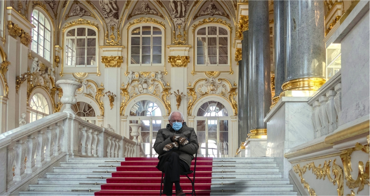 Bernie Sanders and his mittens are lauded in Eastern Europe. Here are the best memes