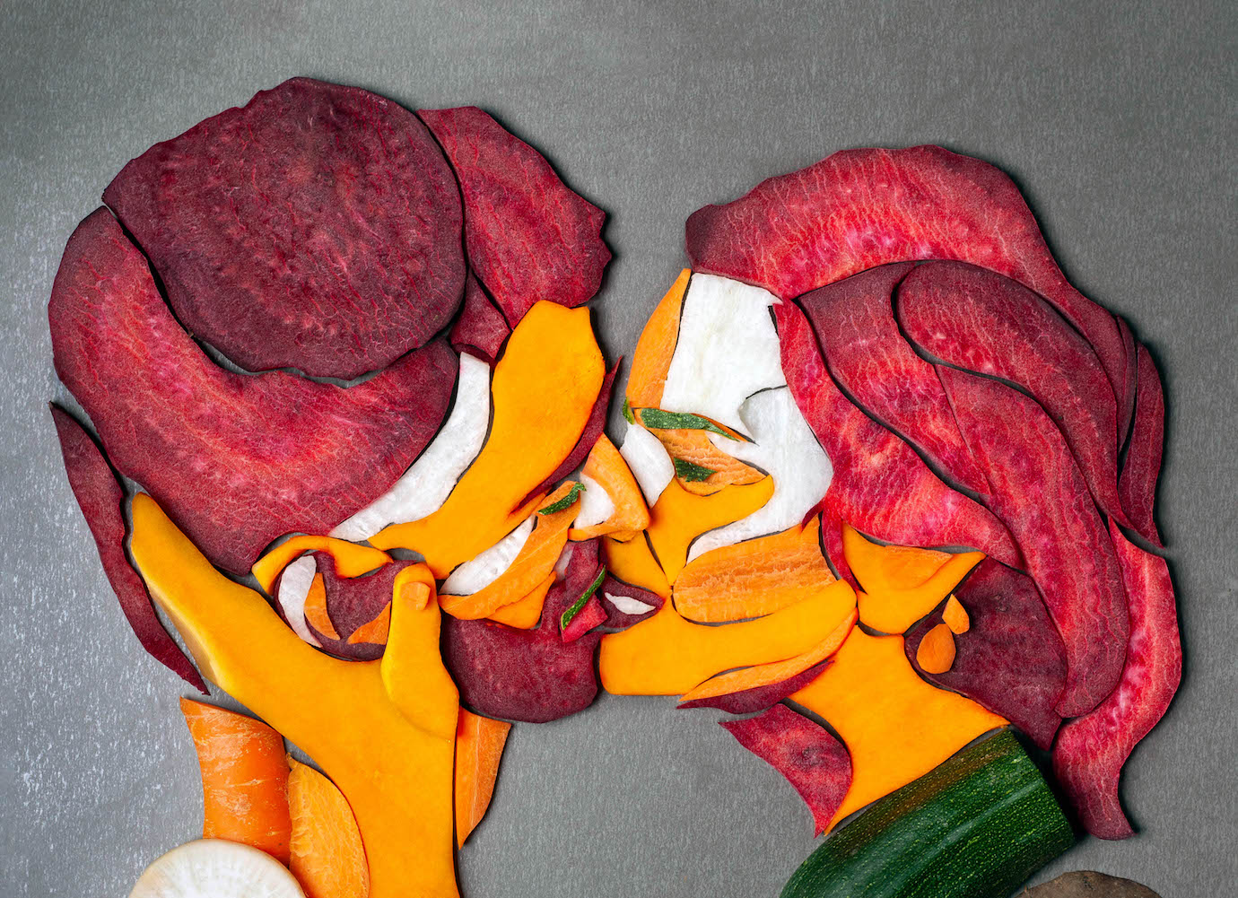 When lunch becomes art: figurative artworks made entirely from food