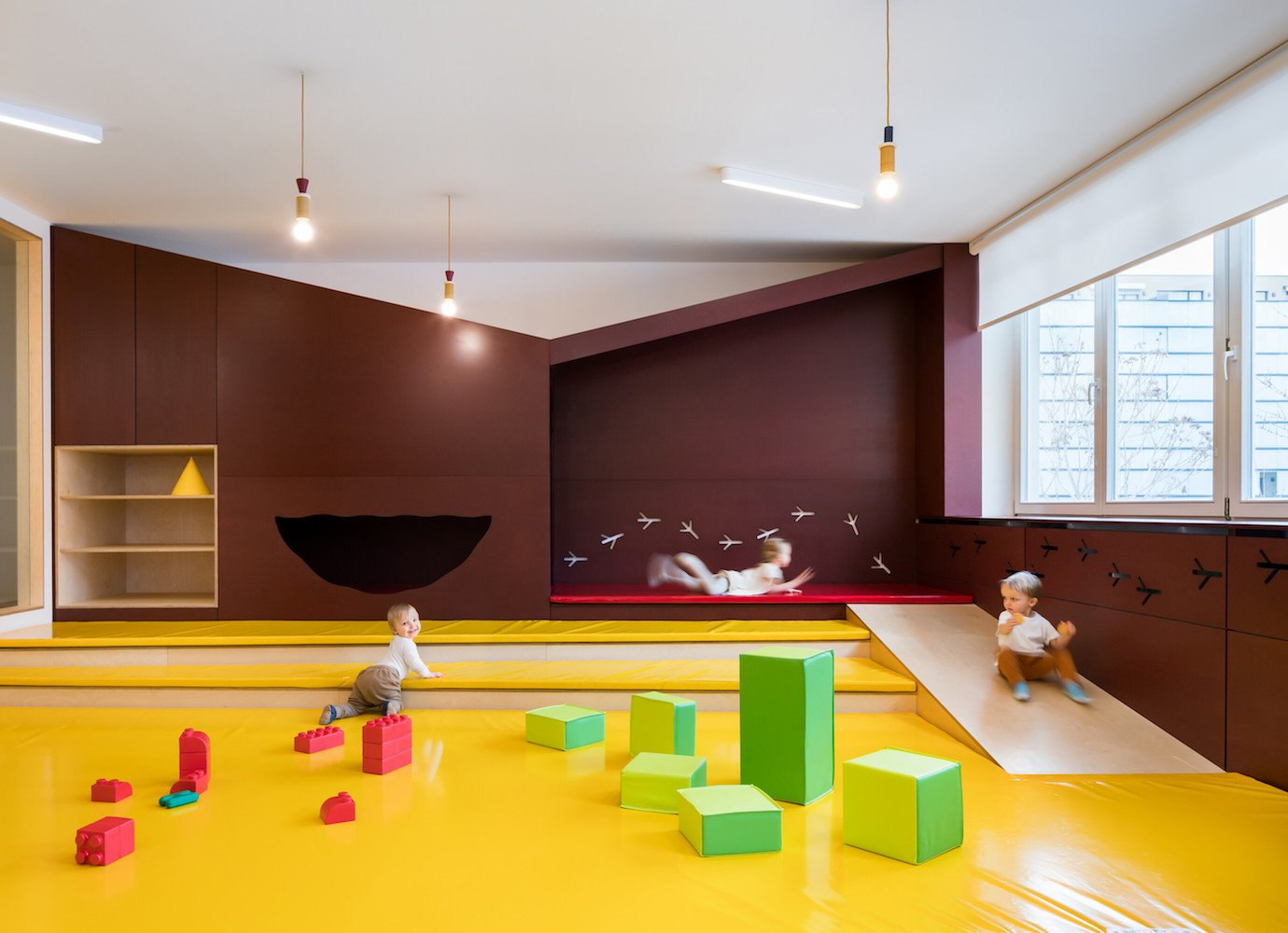 This Prague nursery design is dedicated to children's hidey-holes and natural materials