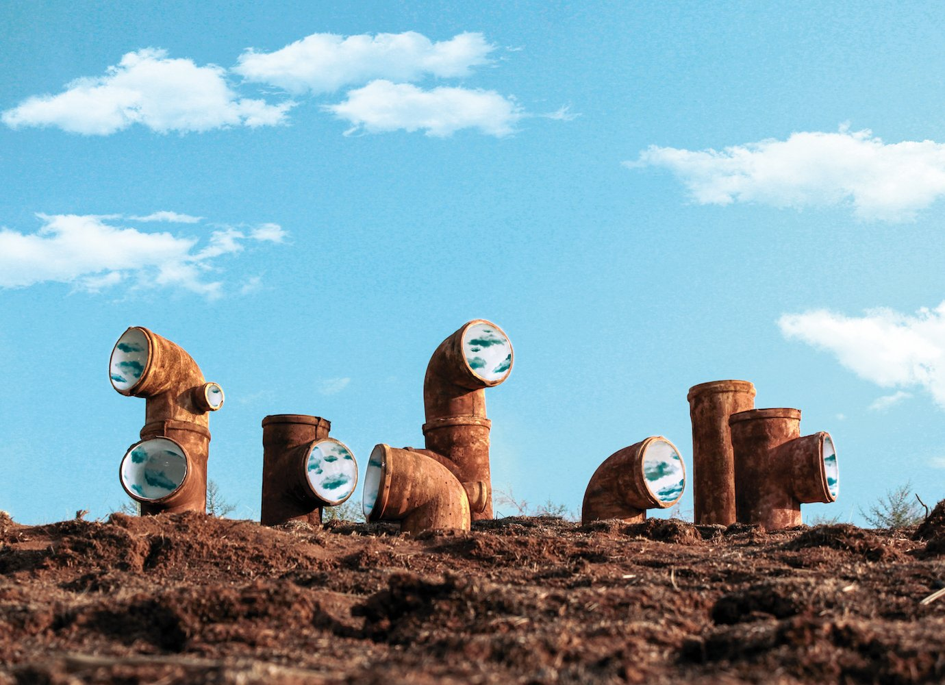 Sunny skies in sewer pipes: visit the Yerevan sculpture imagining a brighter future