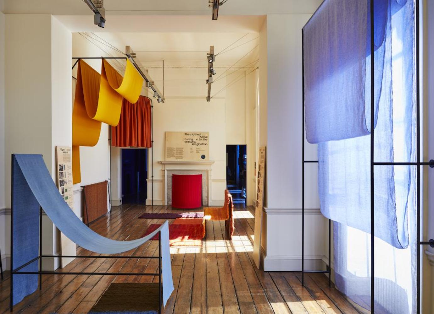 At London's Design Biennale, Polish artists use carpets and curtains to adapt to climate change