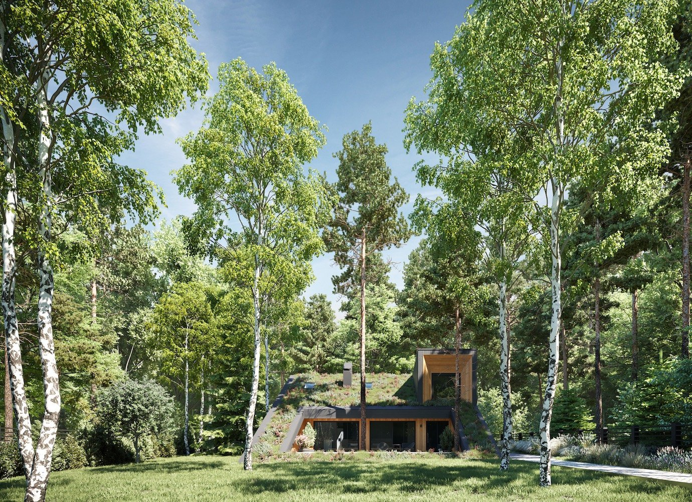 Flora first: the Moscow home built to fit around trees | Concrete Ideas