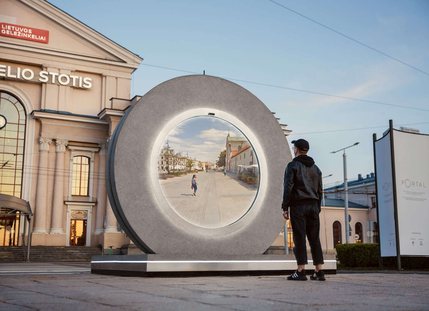 This high-tech portal between Poland and Lithuania is the sci-fi invention we've been waiting for