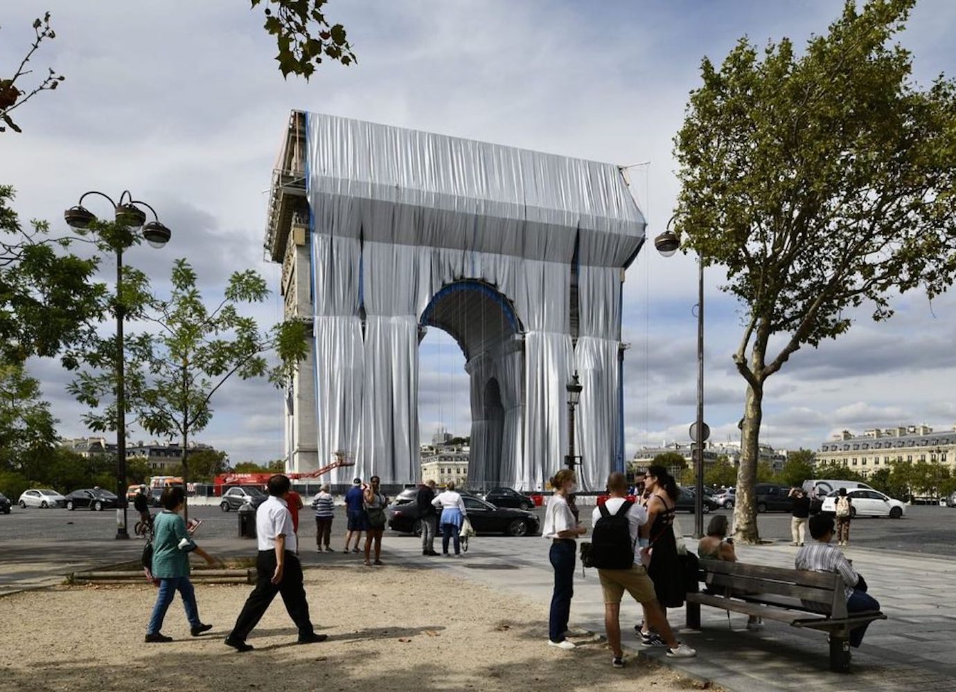 It's a wrap: Paris' Arc de Triomphe is covered in fabric as Christo's final artwork is unveiled