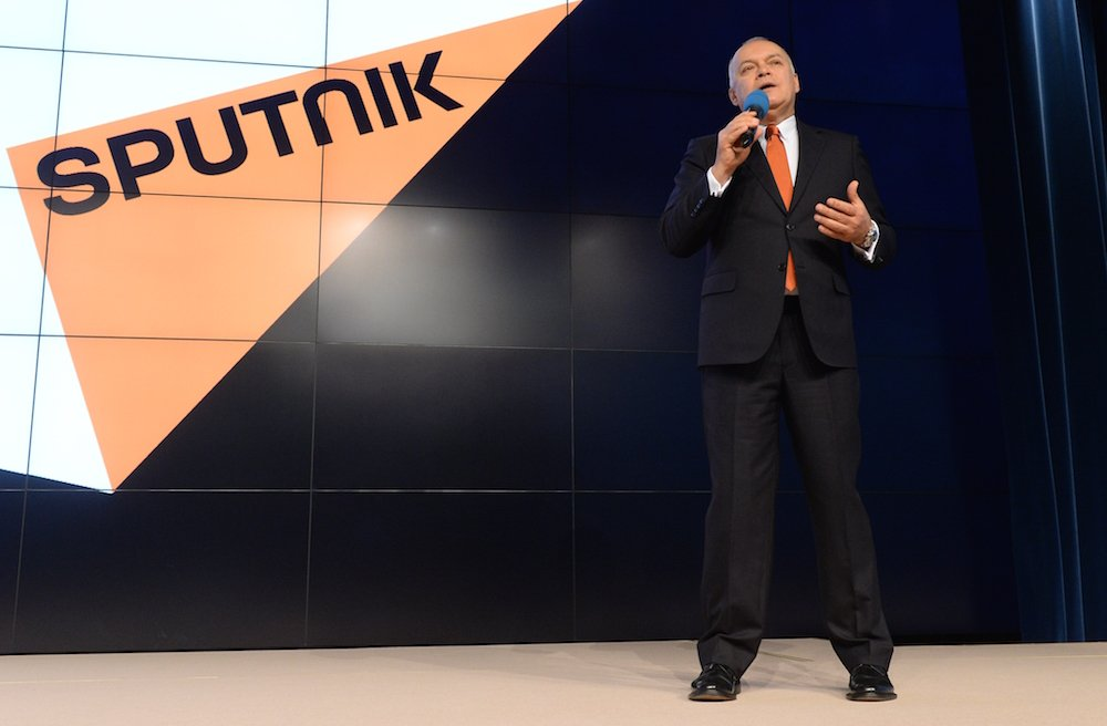 Dmitry Kiselyov, director of Sputnik International. Photograph: RIA Novosti