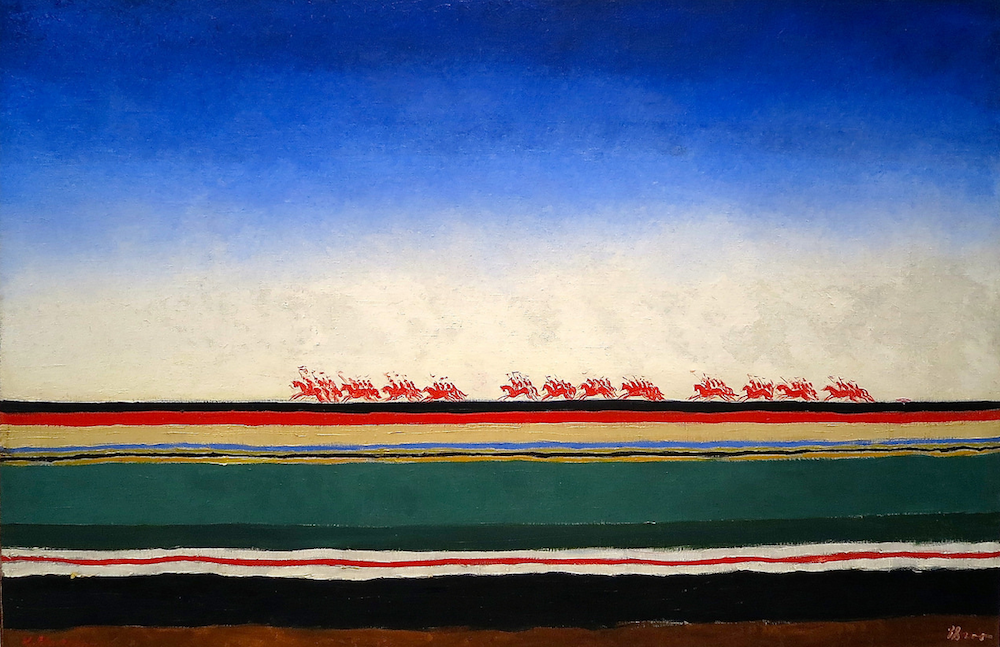 Artist Kazimir Malevich's Red Cavalry (1932). Image: FaceMePLS under a CC License