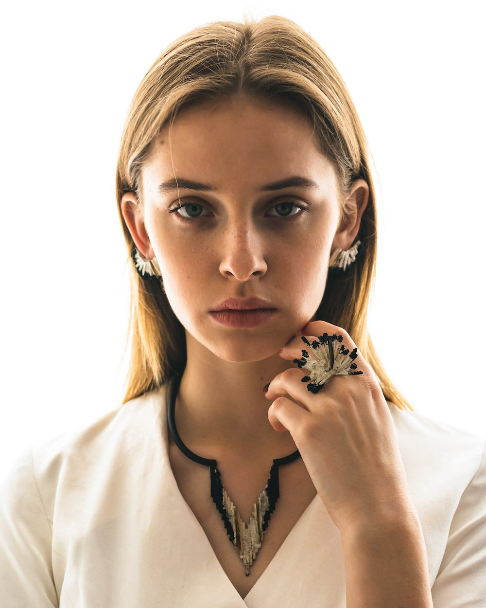 Dalius Ilginis's silver and amber Anxiety collection was among the winners of the Fashion Accessory category