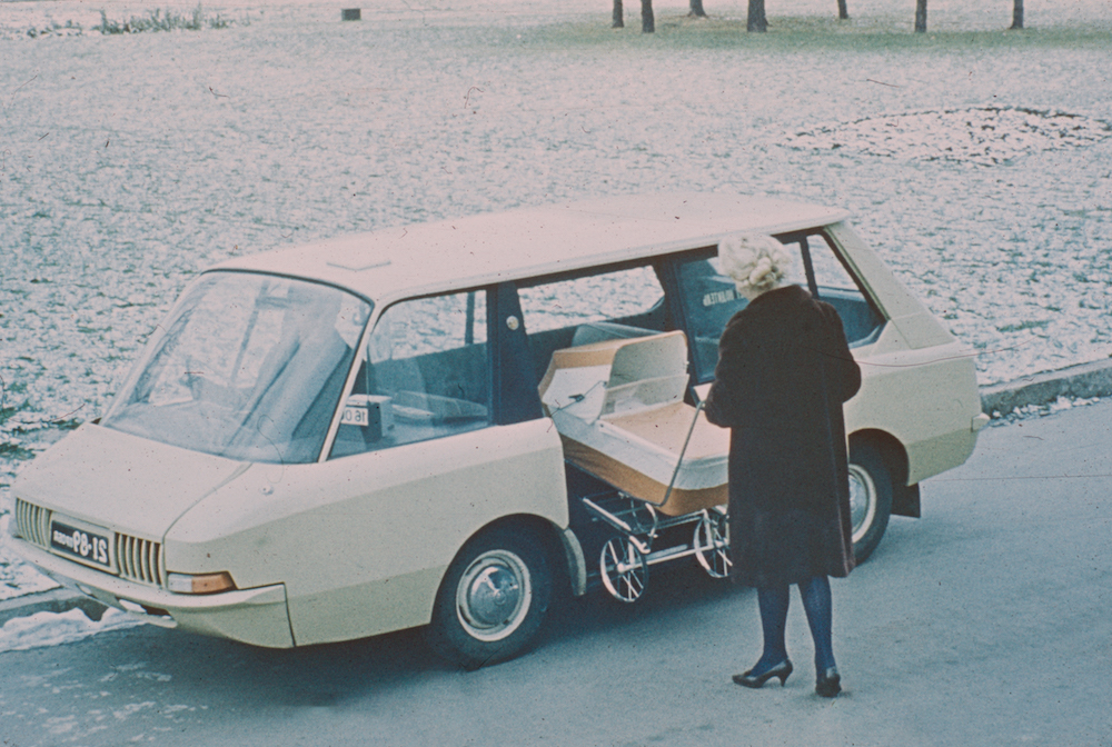 Experimental Soviet taxi, 1964. Image from the archive if the Moscow Design Museum
