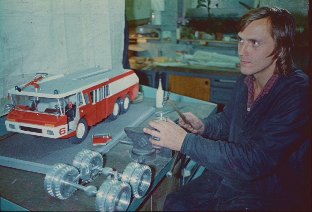 Firetruck, 1975. Image from the archive of the Moscow Design Museum