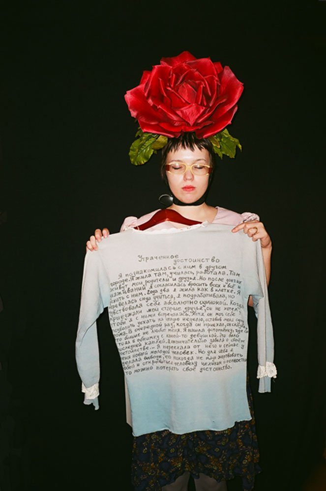 <em>Performance of the Utopian Clothes</em> (2013). Image: Ekaterina Garkushko