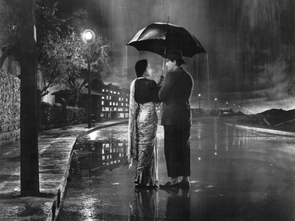 Still from <em>Shree 420</em> (1955) starring Raj Kapoor and Nargis