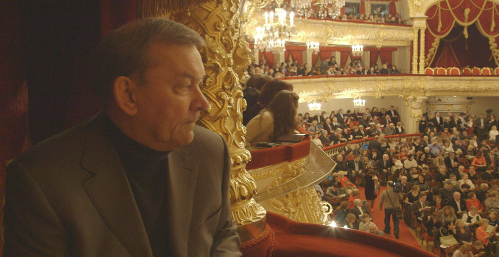 Bolshoi ballet director Vladimir Urin in the Bolshoi auditorium