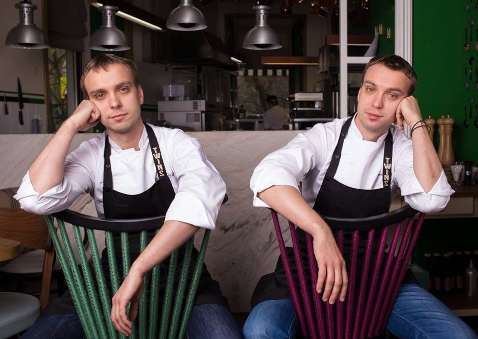 Chefs Ivan and Sergey Berezutsky, owners of Twins restaurant