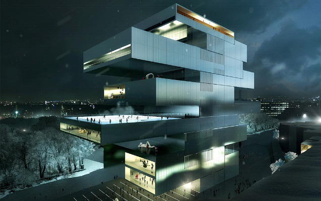 Visualisation of the National Centre for Contemporary Arts