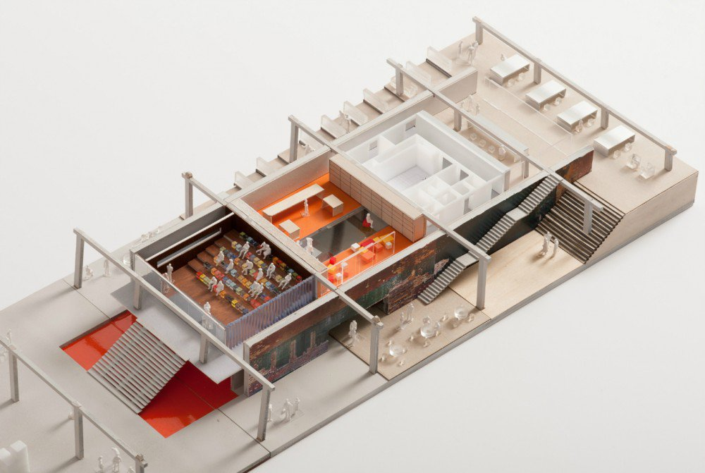 Model of Garage Museum in Gorky Park. Image: OMA